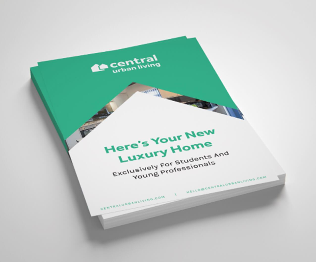 Central Urban Living branded flyer design
