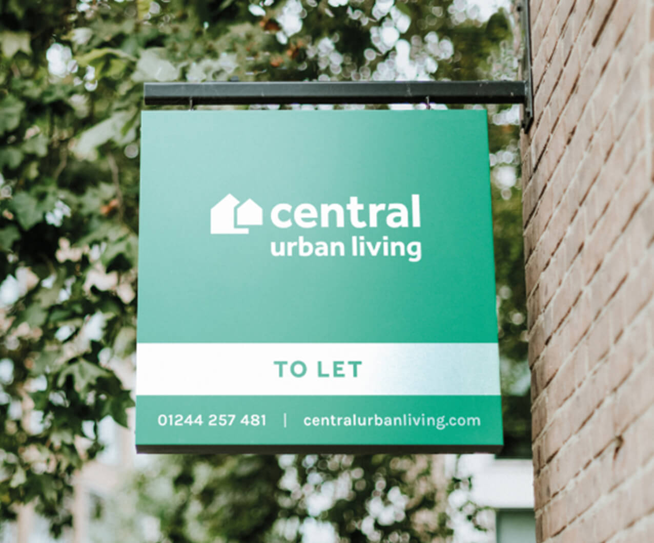 Central Urban Living branded to let property signage