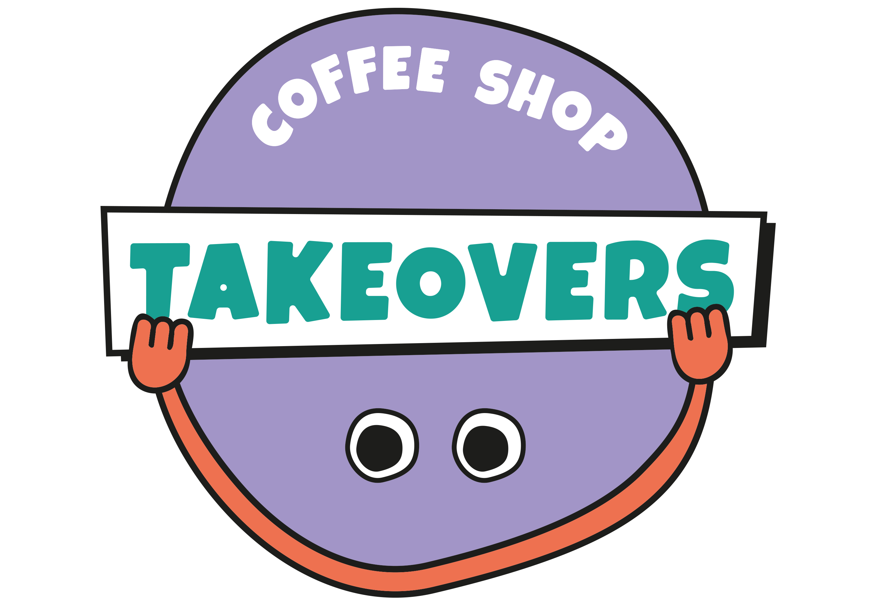 coffee shop takeovers primary logo design