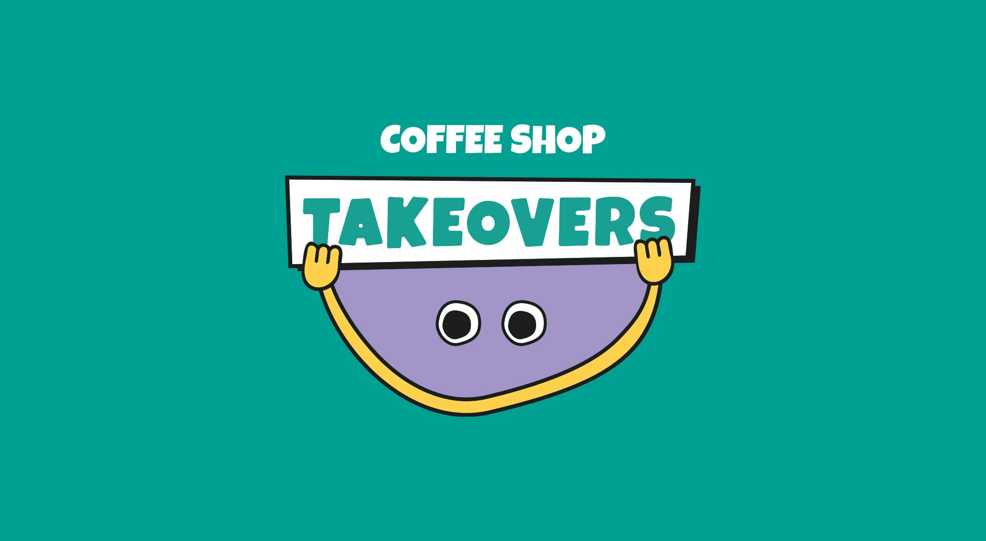 coffee shop takeovers secondary logo design
