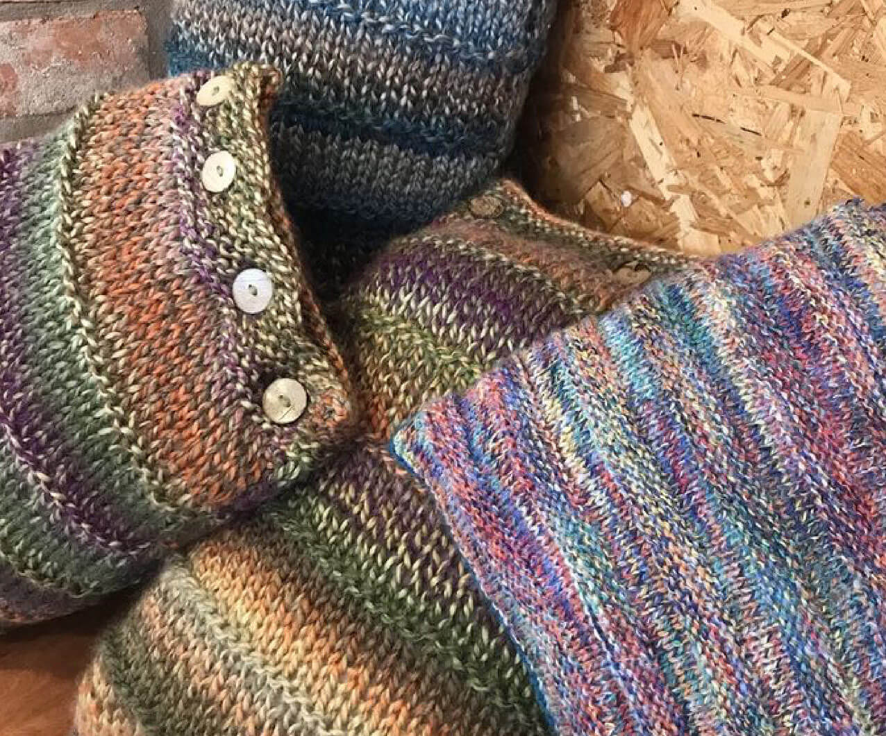 Cosy Bakes hand knitted cushions
