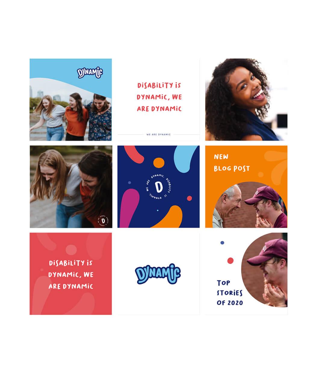 Instagram social media brand design