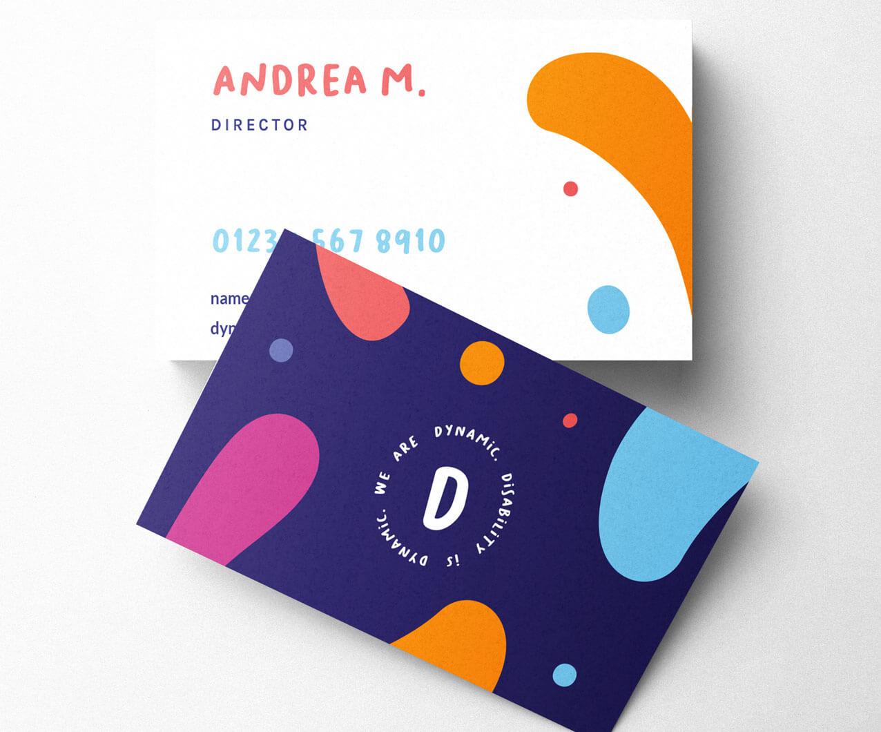Dynamic business card designs