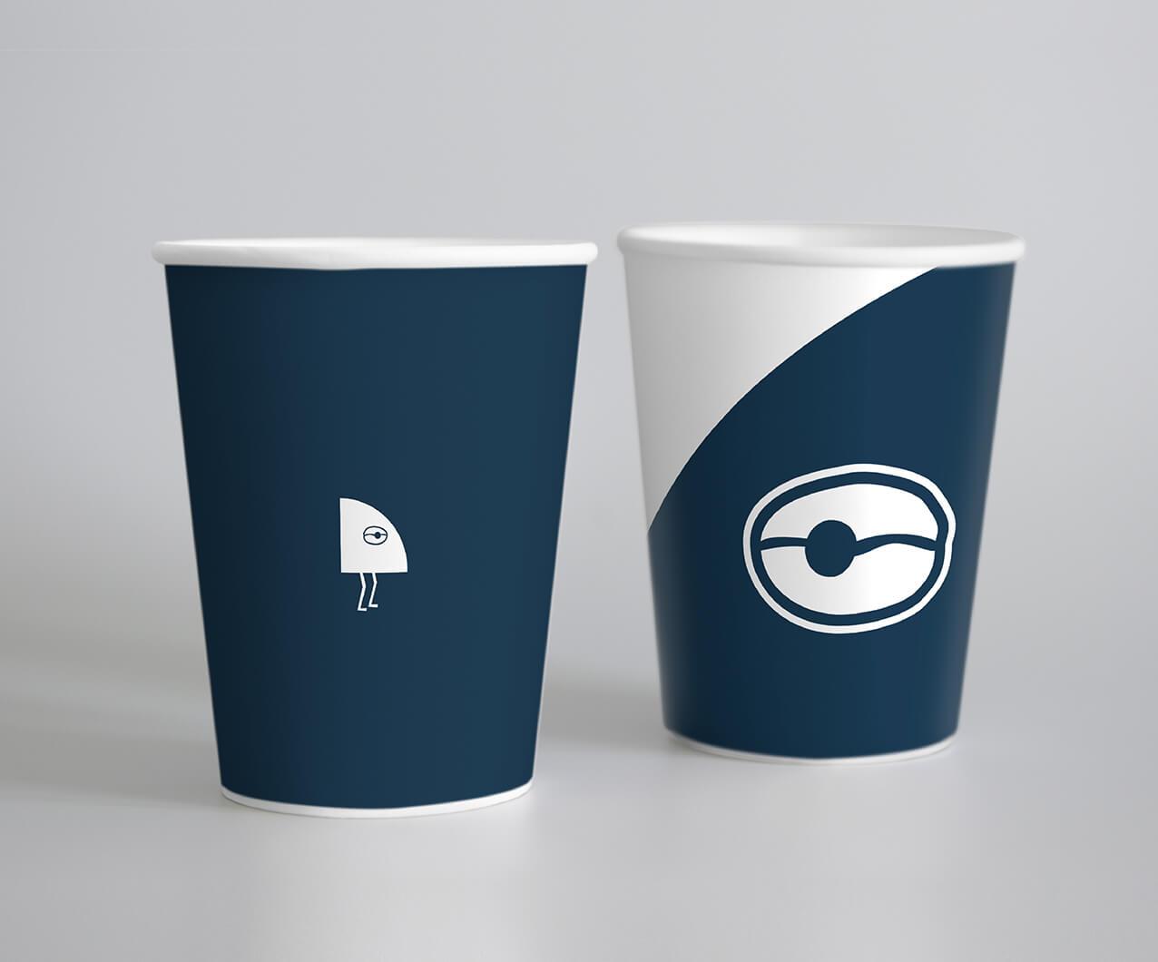 Coffee shop branded cup design