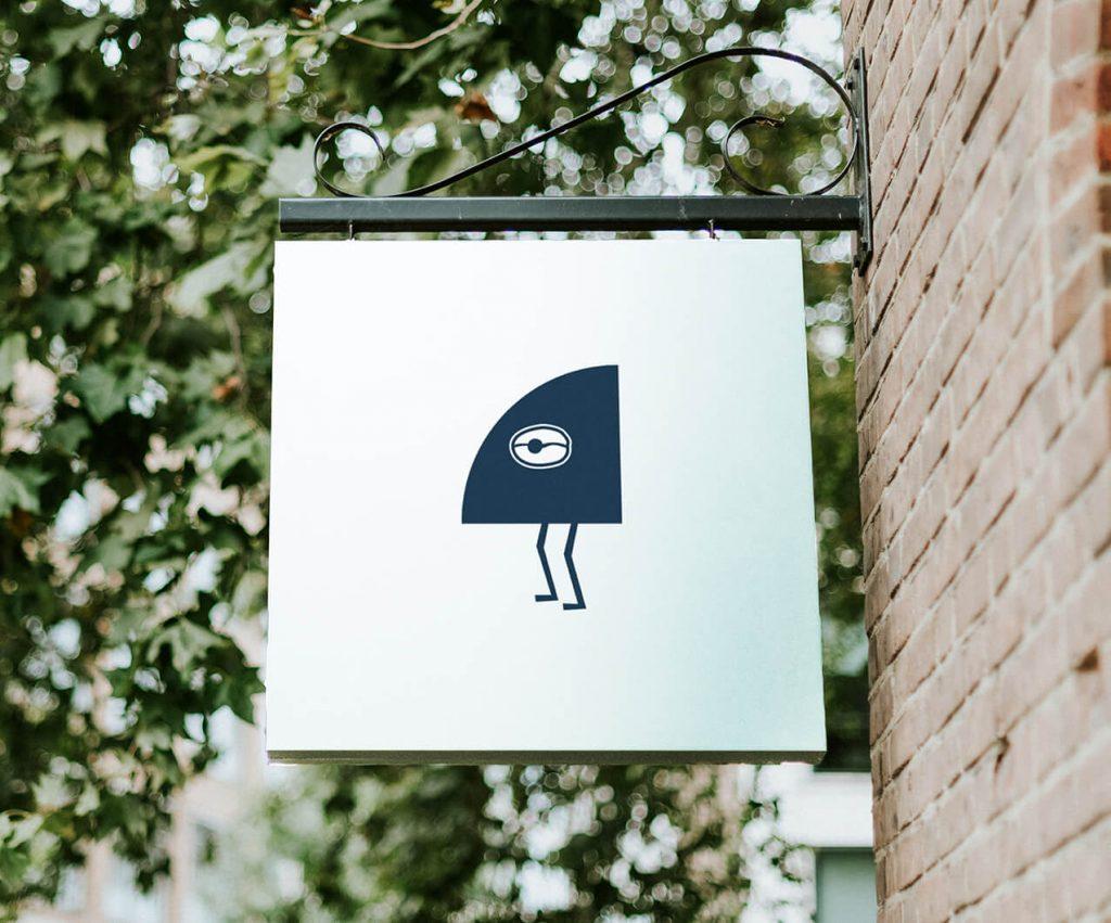 Garden Social coffee shop logo sign