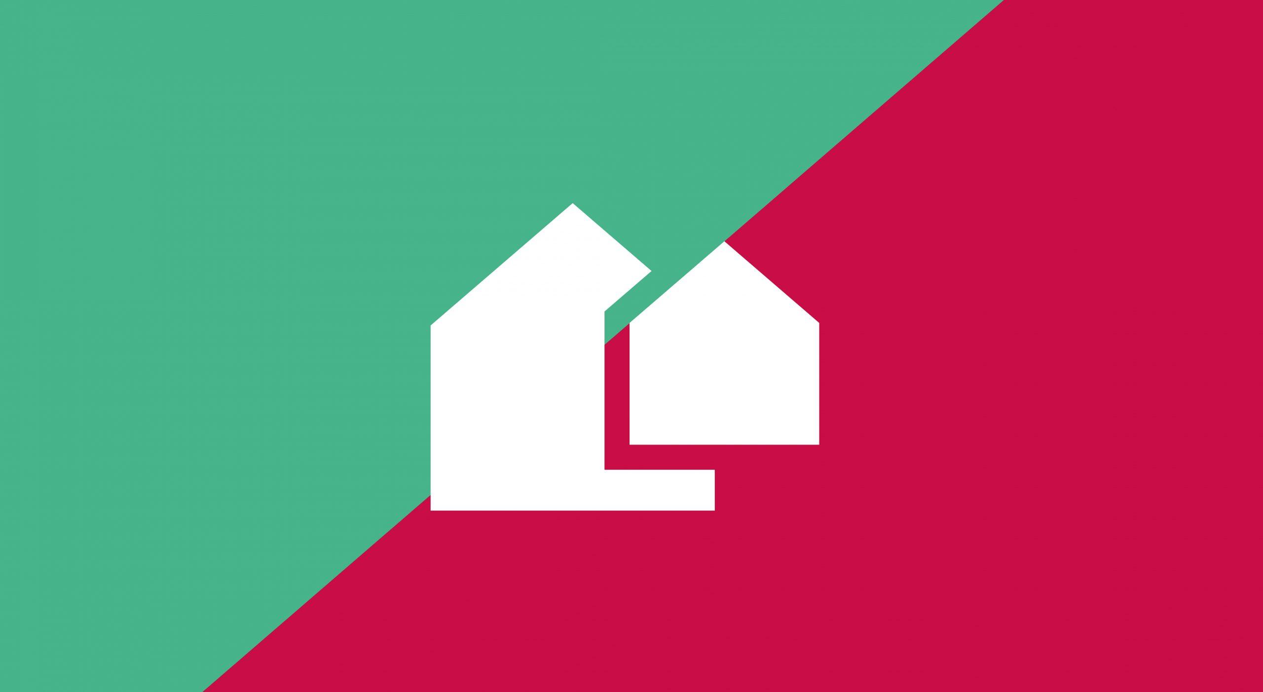 HMO Invest property developer brand icon design