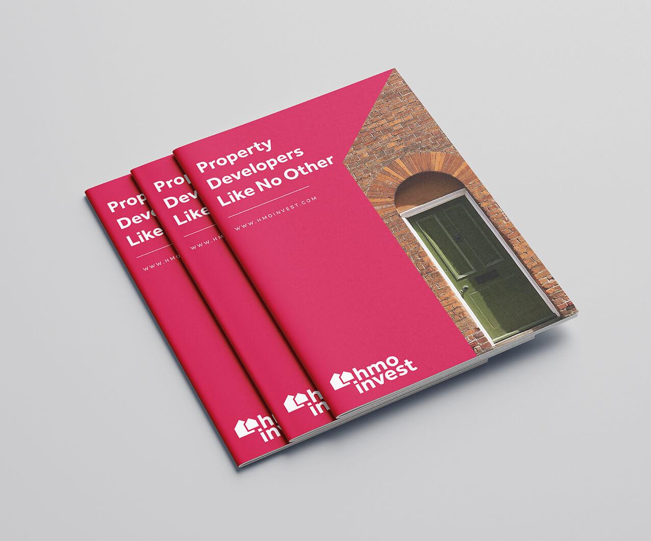 HMO Invest property developer brochure design