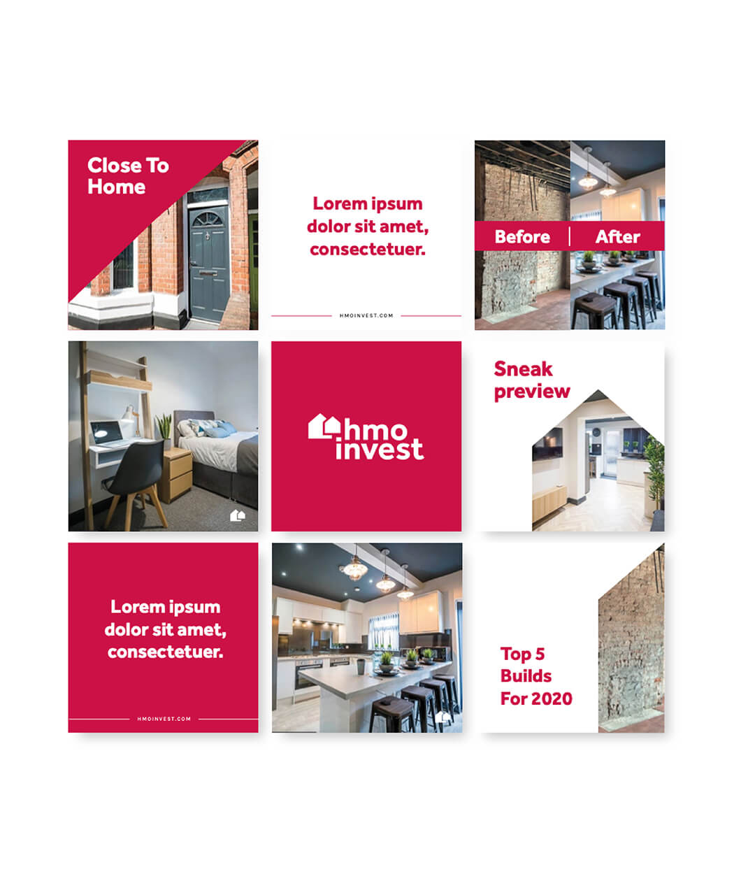 HMO Invest property developer social media instagram design