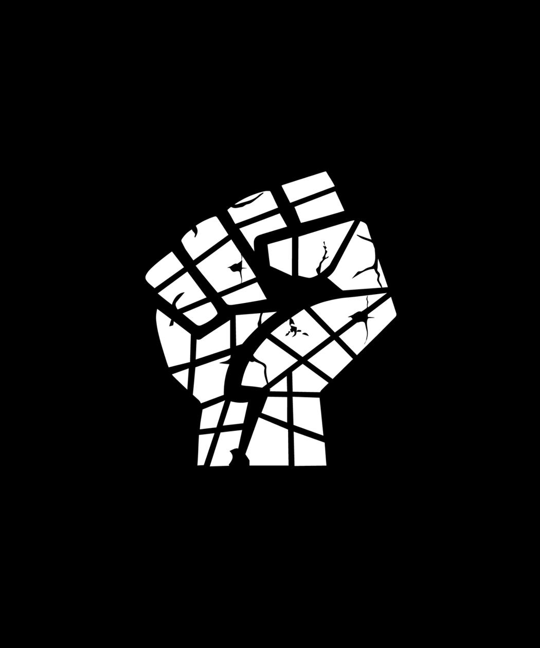 Hand of stone brand icon design