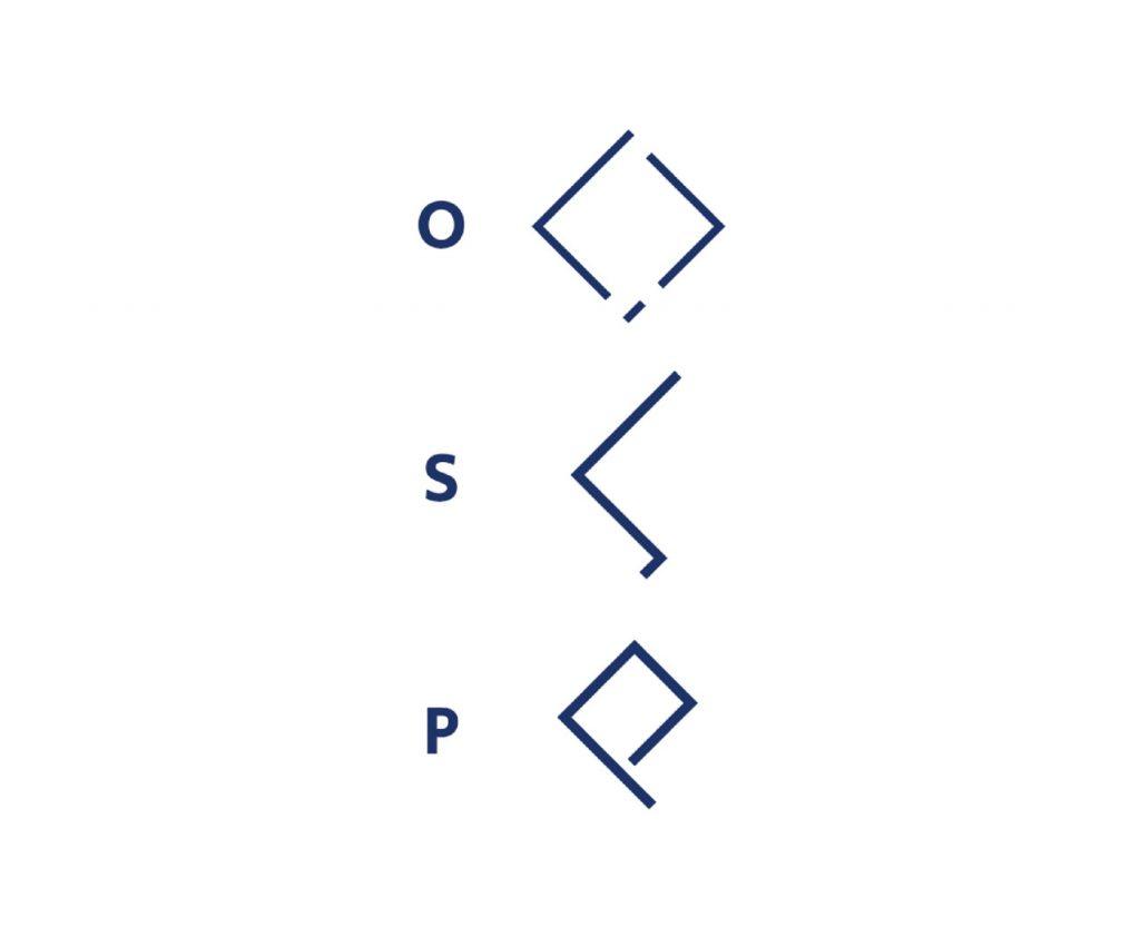 OSP brand icon design breakdown