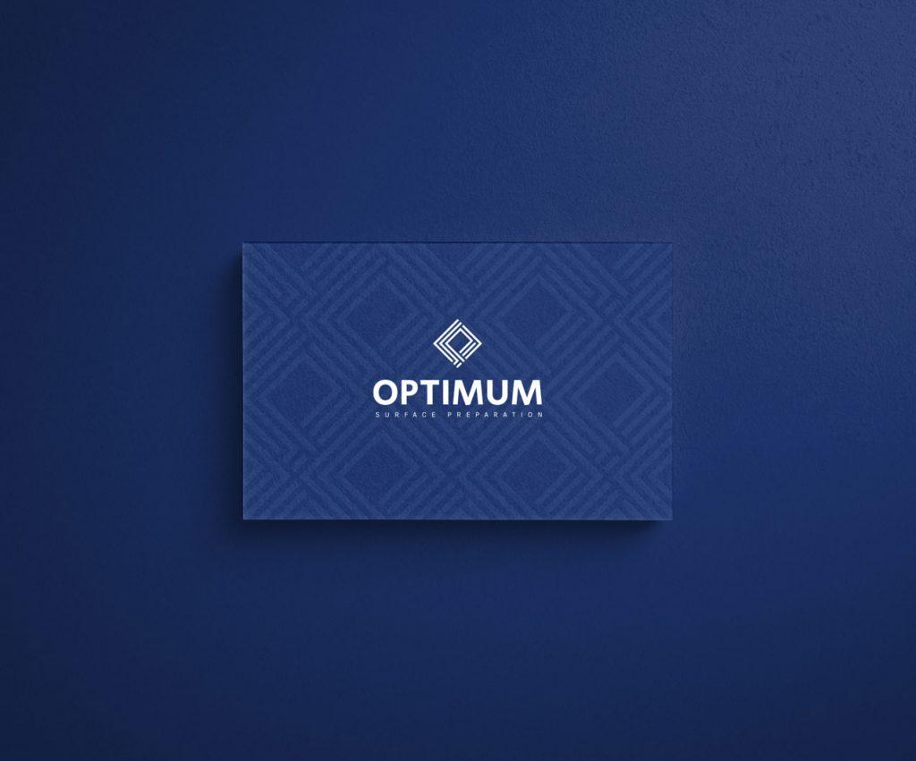 Optimum Surface Preparation business card design