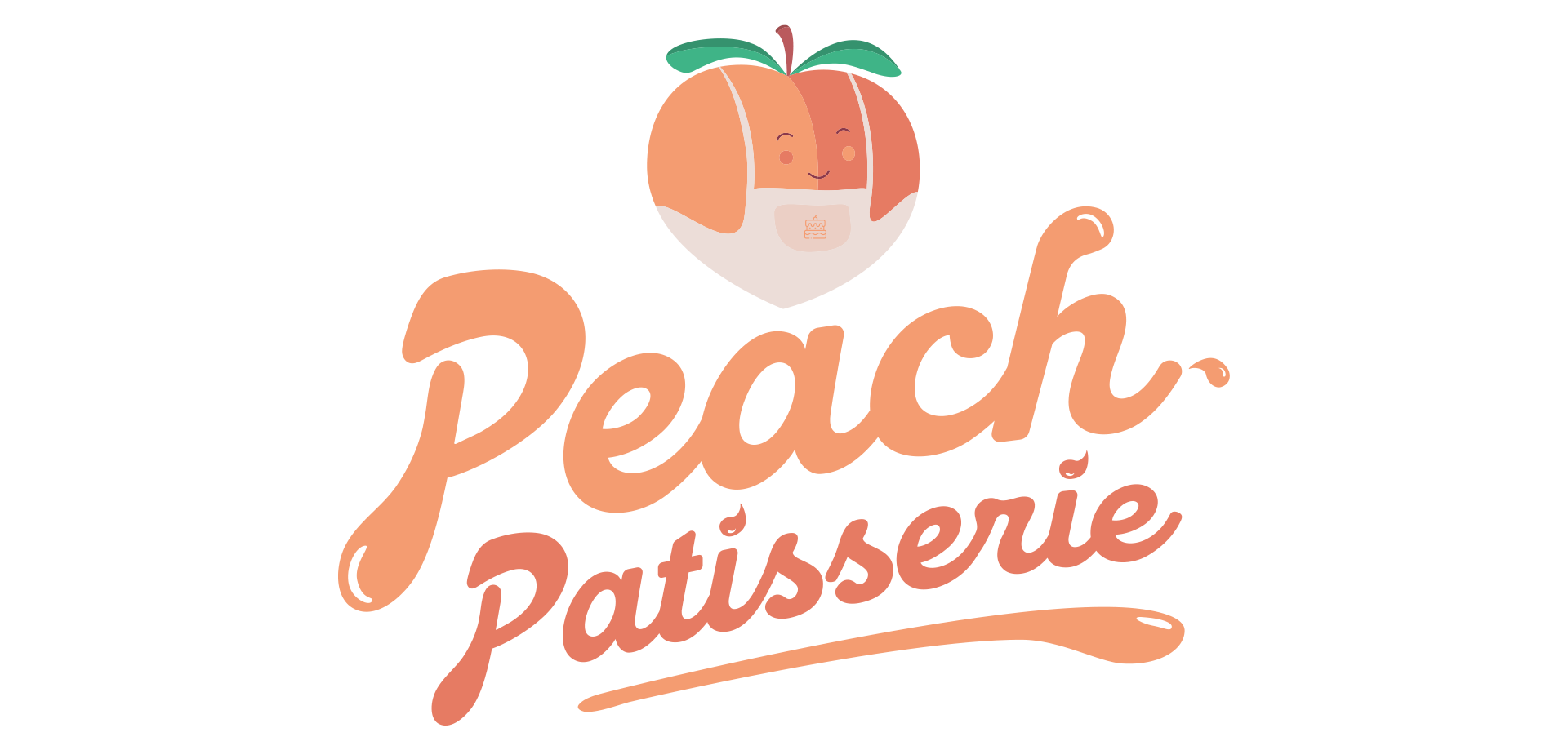 Peach Patisserie primary logo design