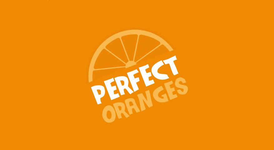 perfect oranges orange slice logo design