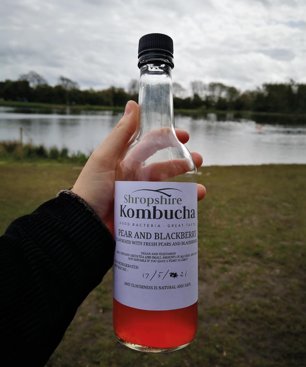 Bottle of Shropshire Kombucha