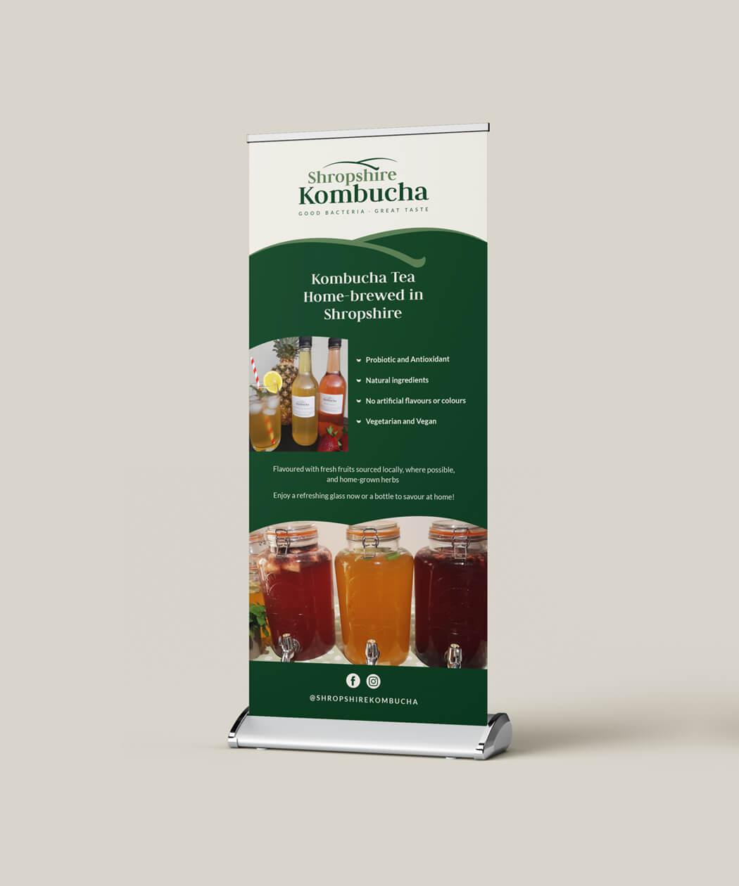 Shropshire Kombucha roller banner design