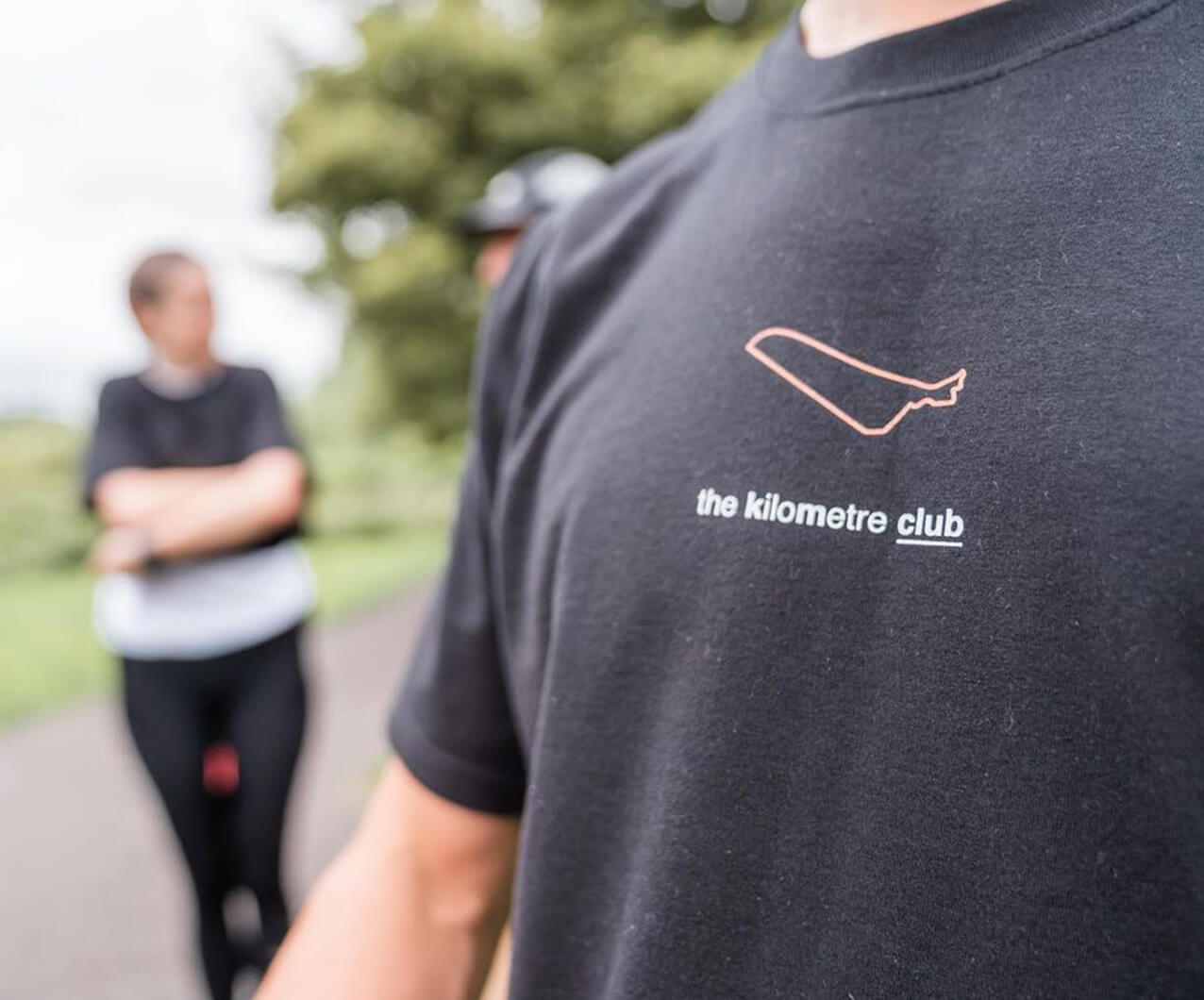 close up of limited edition kilometre club t shirt design