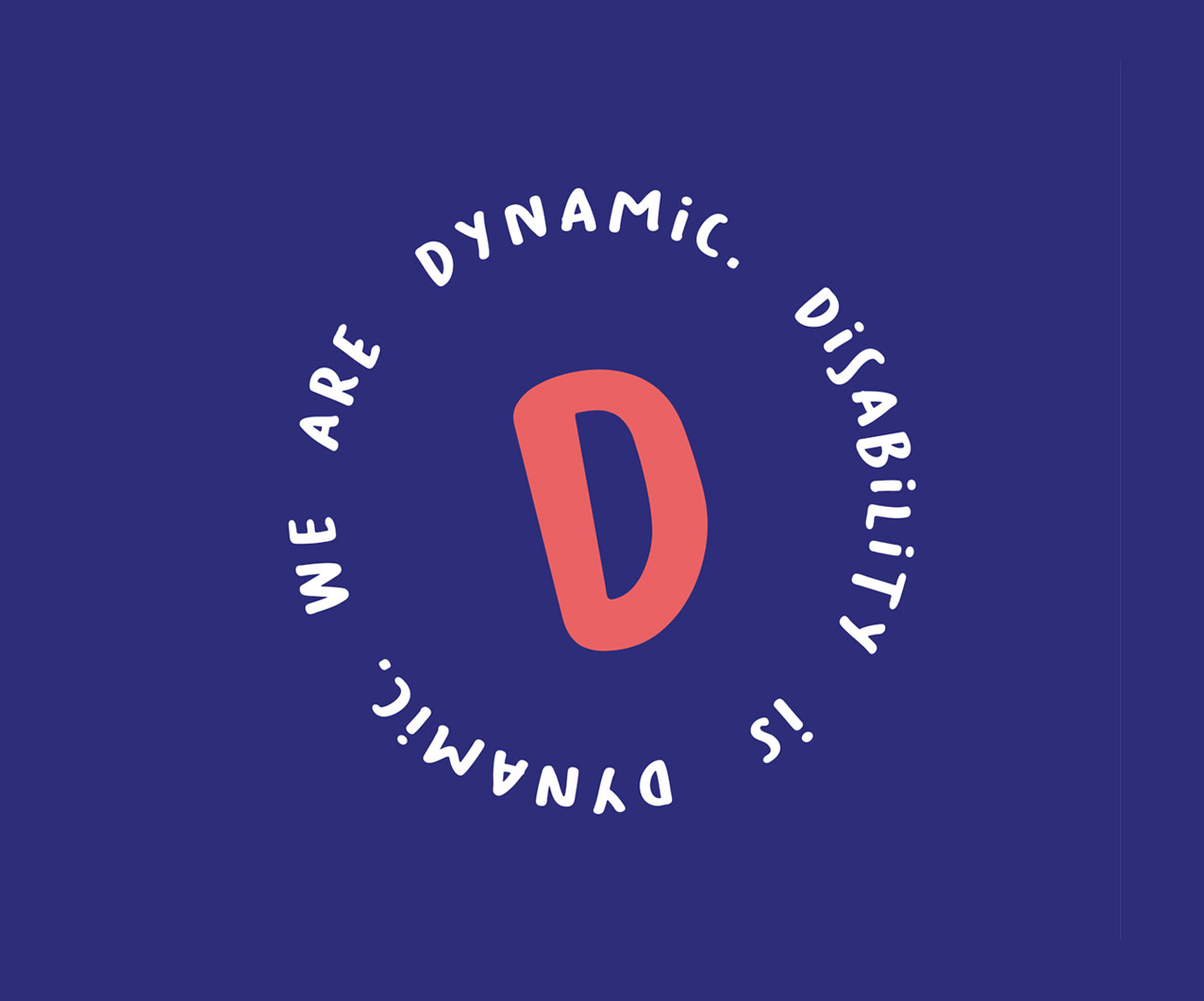 Disability is Dynamic we are Dynamic icon design