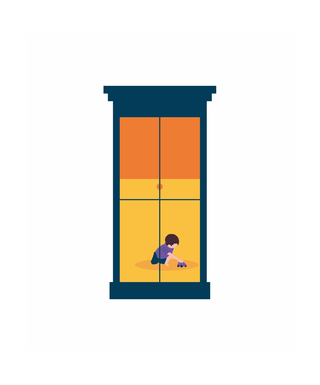 mental health podcast artwork window