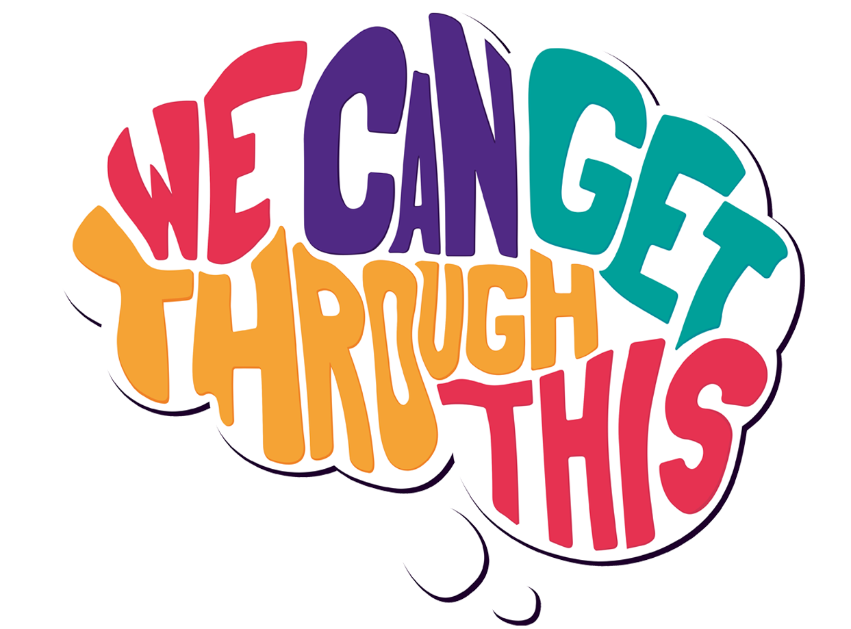 We Can Get Through This podcast logo design